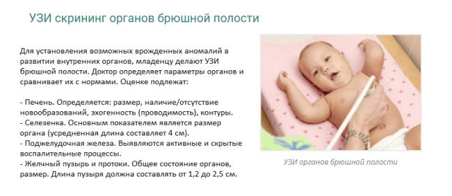 УЗИ брюшной полости младенцам