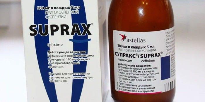 Суспензия Супракс в упаковке