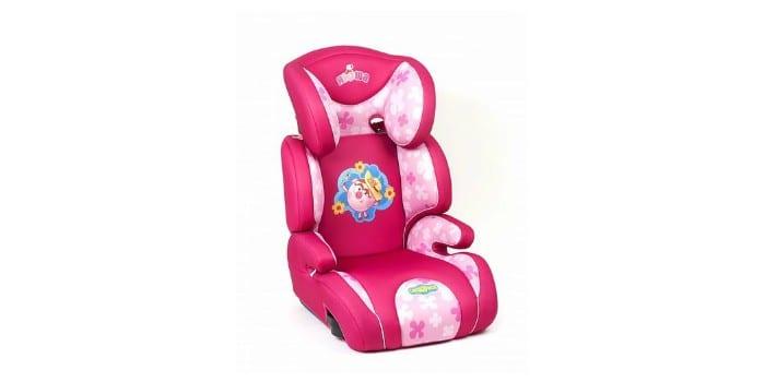 Розовое автомобильное детское кресло Смешарики розовый Нюша