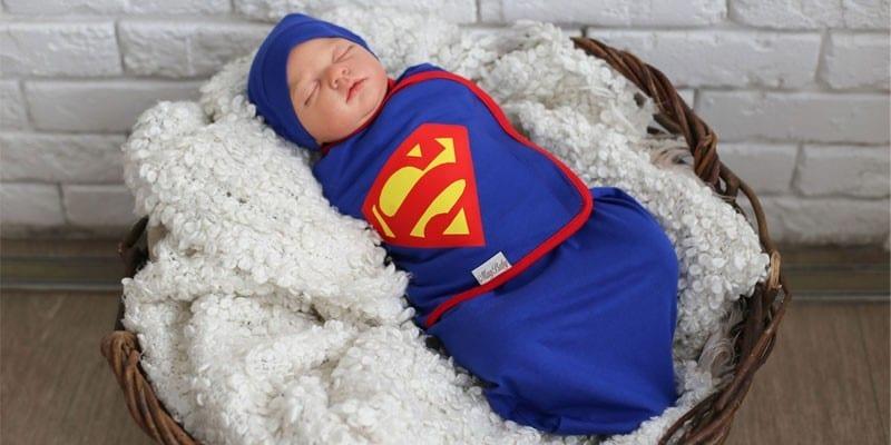 Трикотажный набор с шапочкой Супермен
