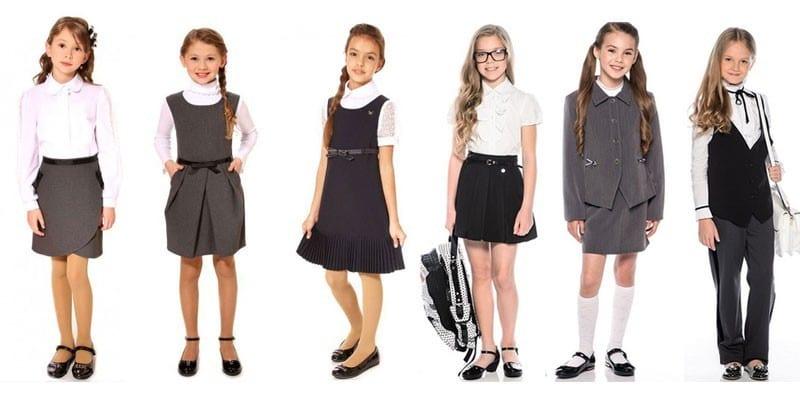 Модные фасоны школьных комплектов, сарафанов и платьев