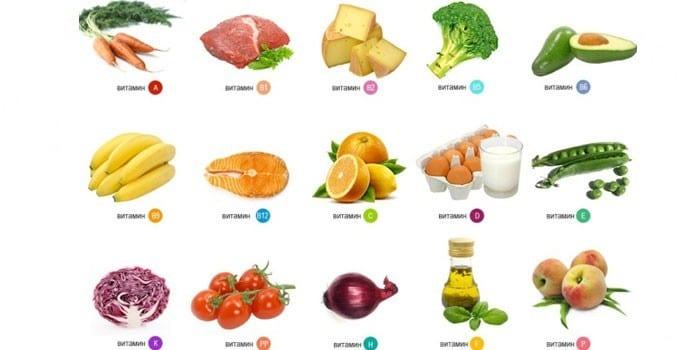 Содержащие витамины для роста продукты