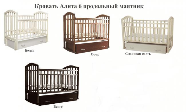 Модели кроваток Ангел Алита-6