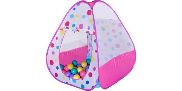 Детская палатка с пластиковыми шариками Bony Треугольник большой Pink