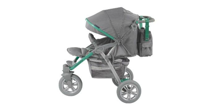 Детская прогулочная коляска с надувными колесами Happy Baby Neon Sport