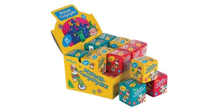 Коробка с разными пазлами Step puzzle Мини - Сюрприз