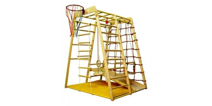 Компактный игровой комплекс для детей из дерева Веселый малыш