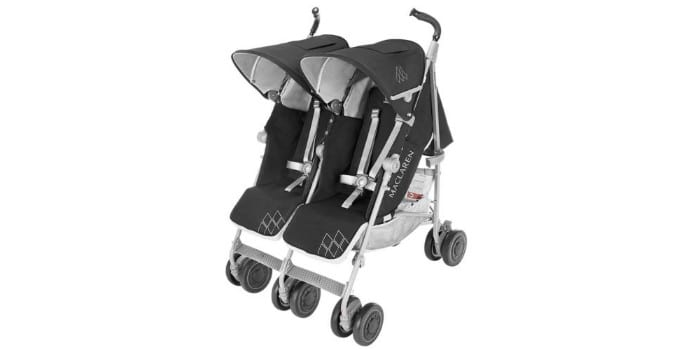 Летняя коляска прогулочная для близнецов Maclaren Twin Techno