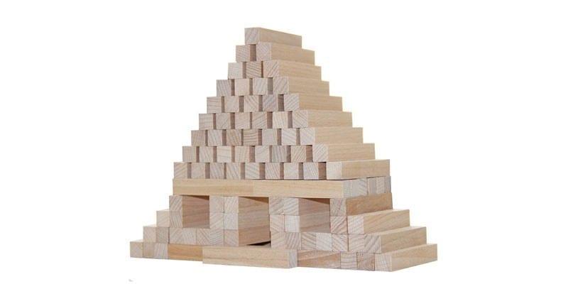 Конструктор из деревянных брусков Юниор от Краснокамской Игрушки
