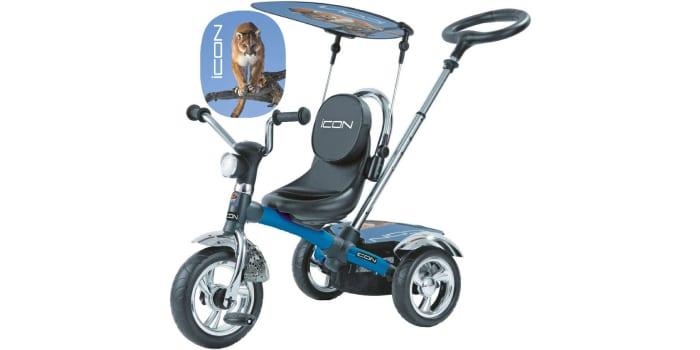 Трехколесный велосипед RT ICON 4 Silver Blue Puma