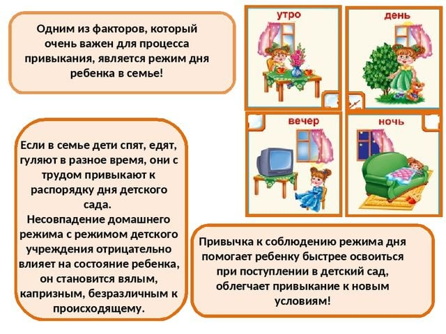 Распорядок дня ДОУ и домашний режим