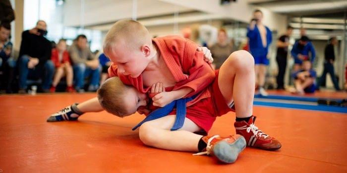 Детские соревнования по самбо