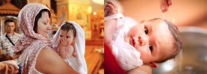 Крещение малышки