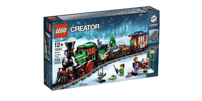 Железная дорога новогодняя LEGO Помощник Санты