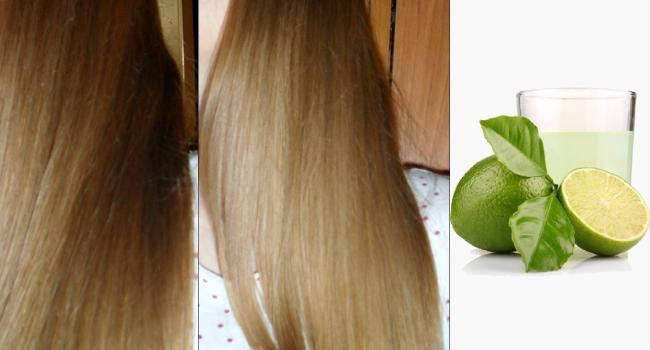 Волосы, осветленные лаймом