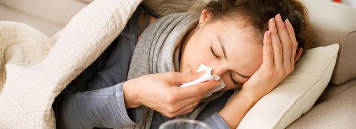 Простуда у женщины