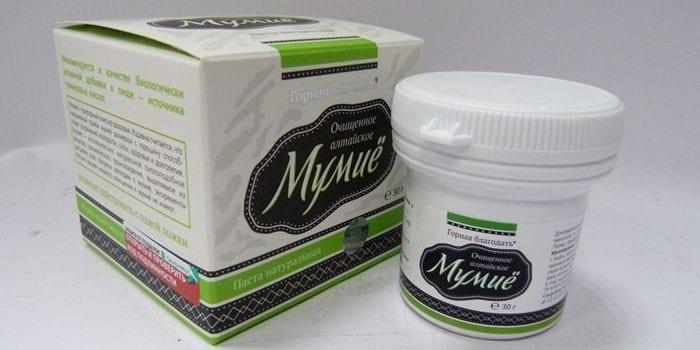 Паста мумие в упаковке