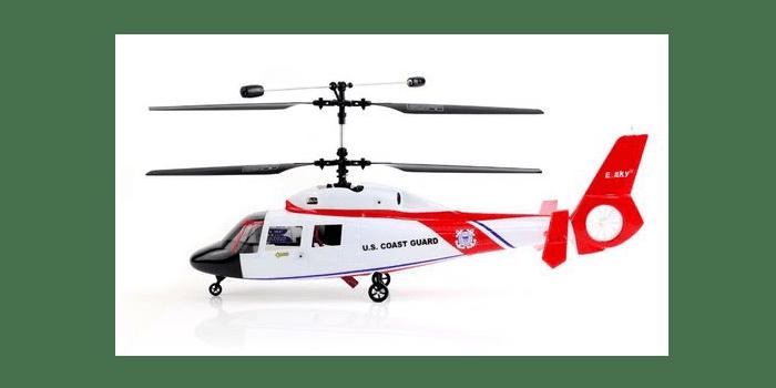 Небольшой двуосный радиоуправляемый вертолет e-sky Co-Douphin