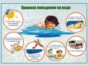 Правила безопасности на воде для детей и родителей