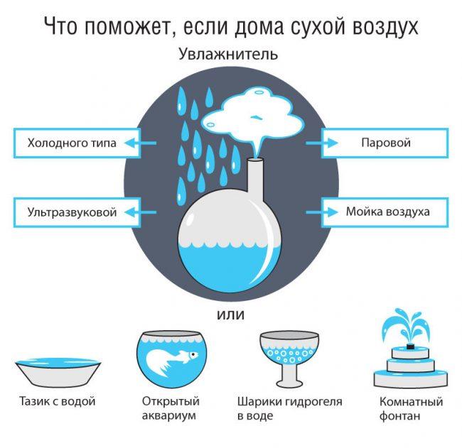 Что поможет, если дома сухой воздух