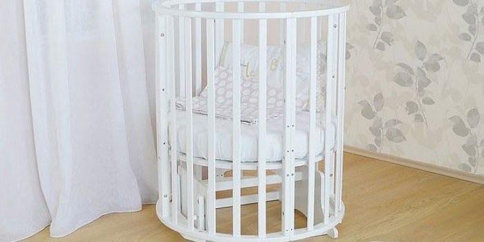 Круглая кроватка-трансформер Noony Cozy 6 в 1