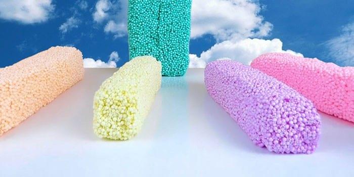 Разноцветный пластилин из шариков