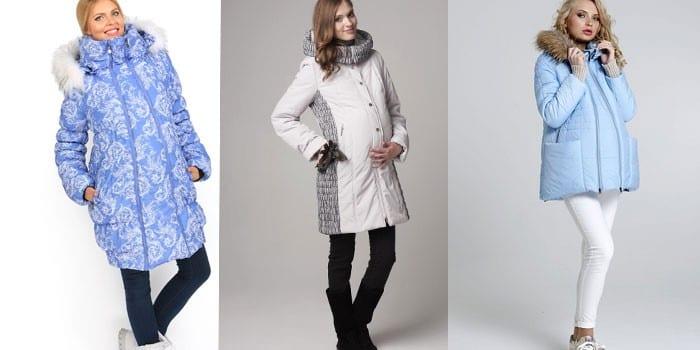 Беременные женщины в зимних куртках