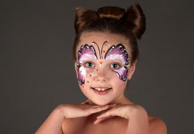 Грим бабочка для девочки на Хэллоуин