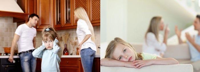 Родители скандалят при ребенке