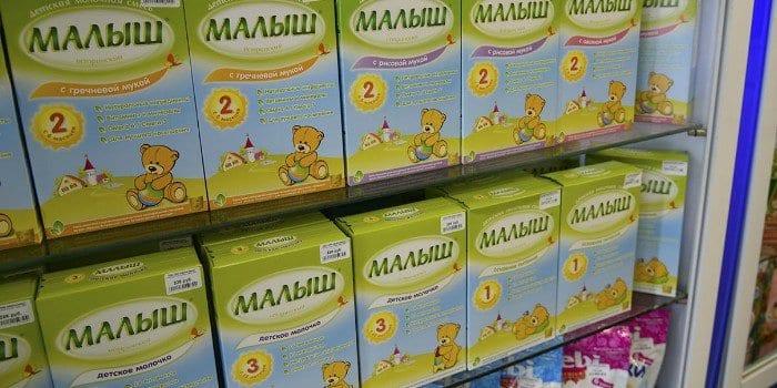 Детское питание в магазине