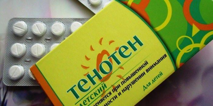Таблетки Тенотен для детей в упаковке