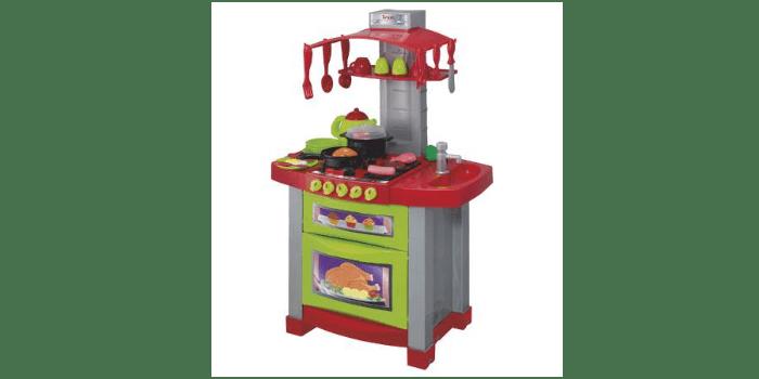 Небольшой пластиковый игрушечный гарнитур для кухни Halsall с водой