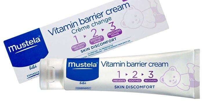 Барьерный детский крем с витаминами Mustela Bebe Crème change 123