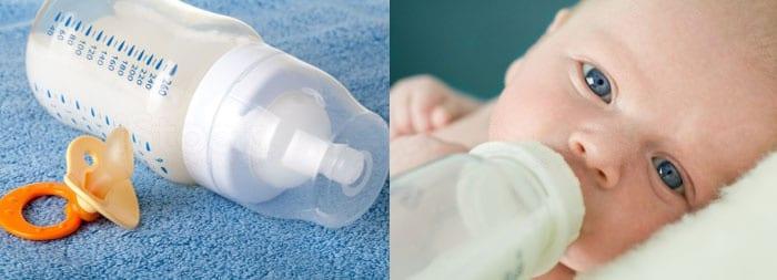 Кормление новорожденного из стерильной бутылочки исключит молочницу