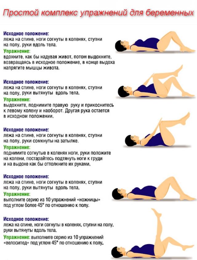 Простой комплекс упражнений для беременных