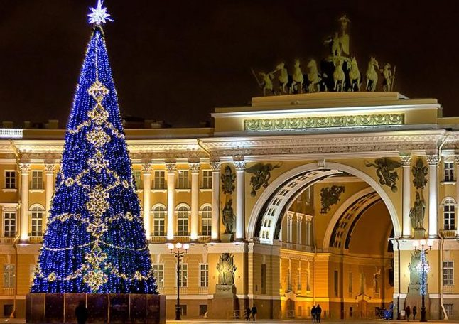 Сантк-Петербург на Новый год