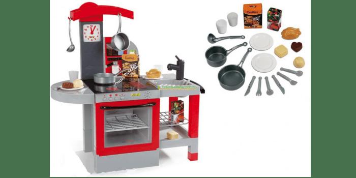 Небольшая игрушечная кухня с аксессуарами Tefal Smoby со светом и звуком