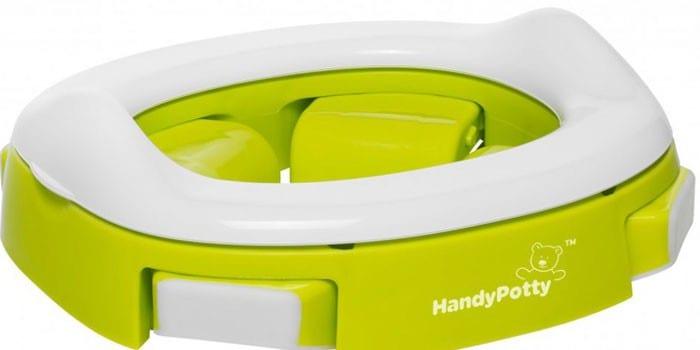 Пластиковый складной горшок Roxy-Kids HandyPotty Lime HP-250GR