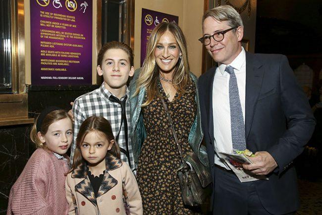 Сара Джессика Паркер с семьей