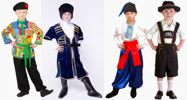 Мальчики в национальных костюмах