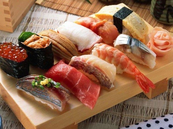 Разнообразные суши