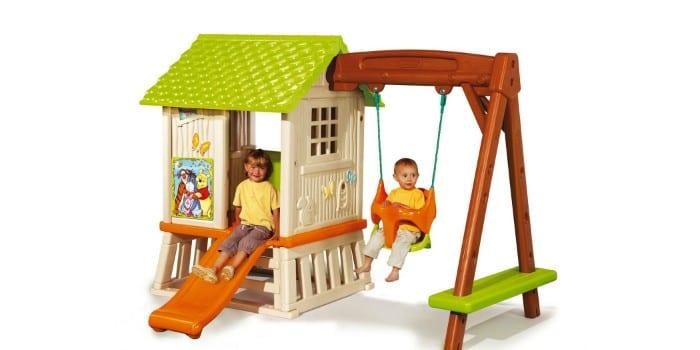 Детский игровой комплекс с домиком икачелями SMOBY Winnie