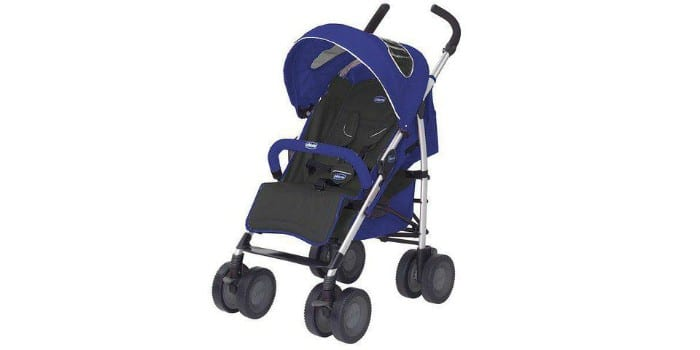 Детская прогулочная коляска-трость Chicco Multiway Evo Blue