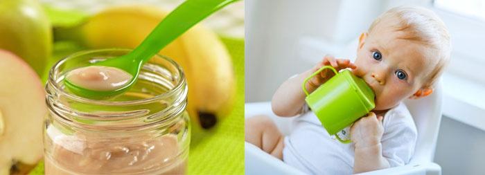 Детское питание, ребенок с поильником