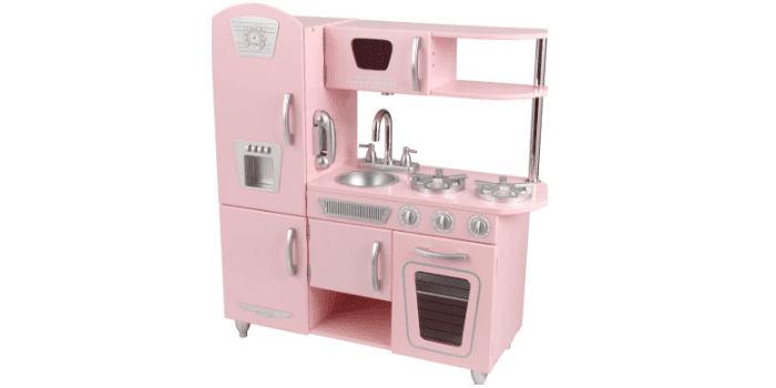 Игрушечная детская кухня Винтаж розовая KidKraft