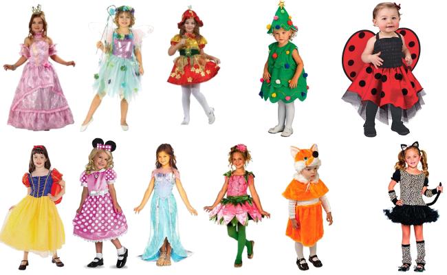 Варианты новогоднего костюма для девочки