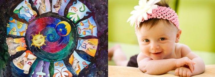Маленькая девочка и знаки зодиака