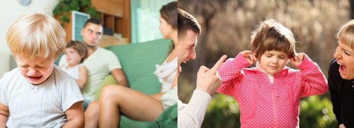 Родители ругаются, ребенок плачет