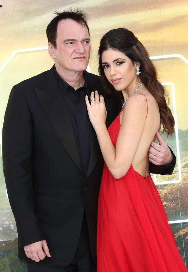 Квентин Тарантино со своей женой