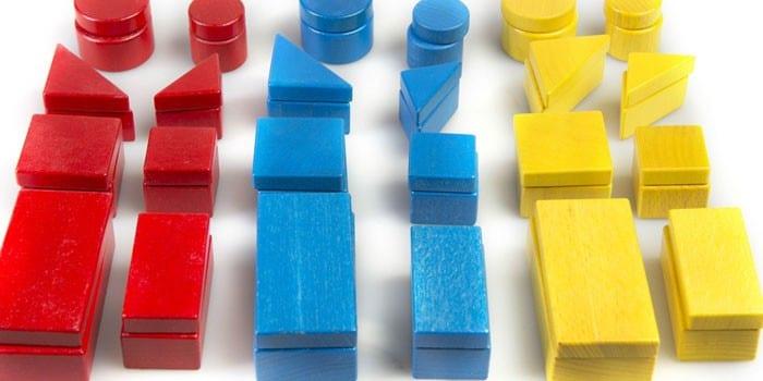 Разноцветные блоки Дьенеша